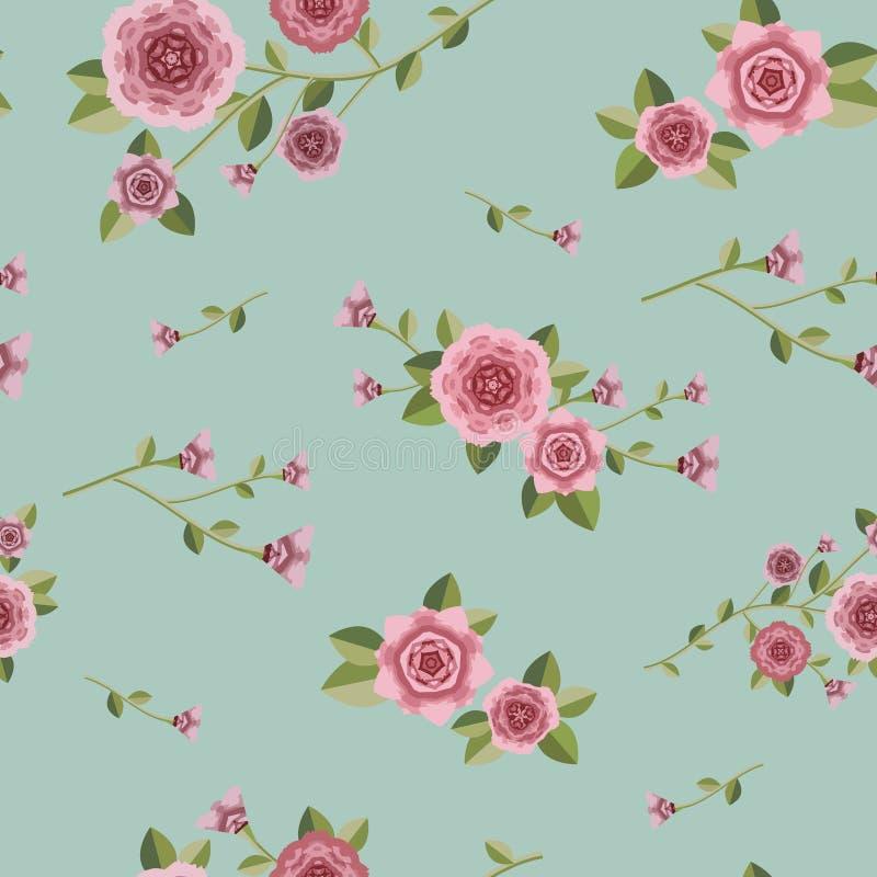 Bevallig naadloos bloemenpatroon royalty-vrije illustratie