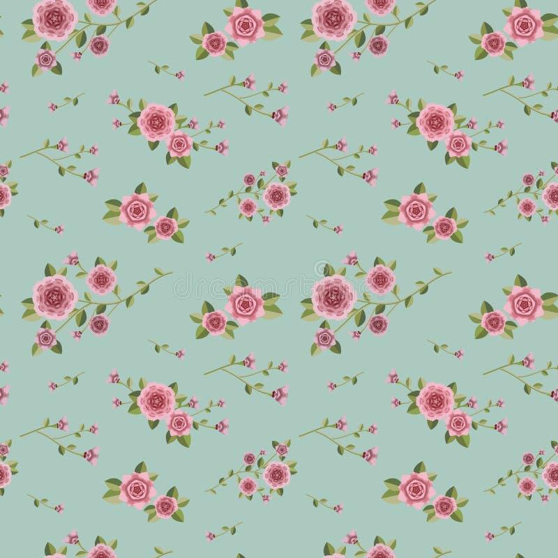 Bevallig naadloos bloemenpatroon vector illustratie