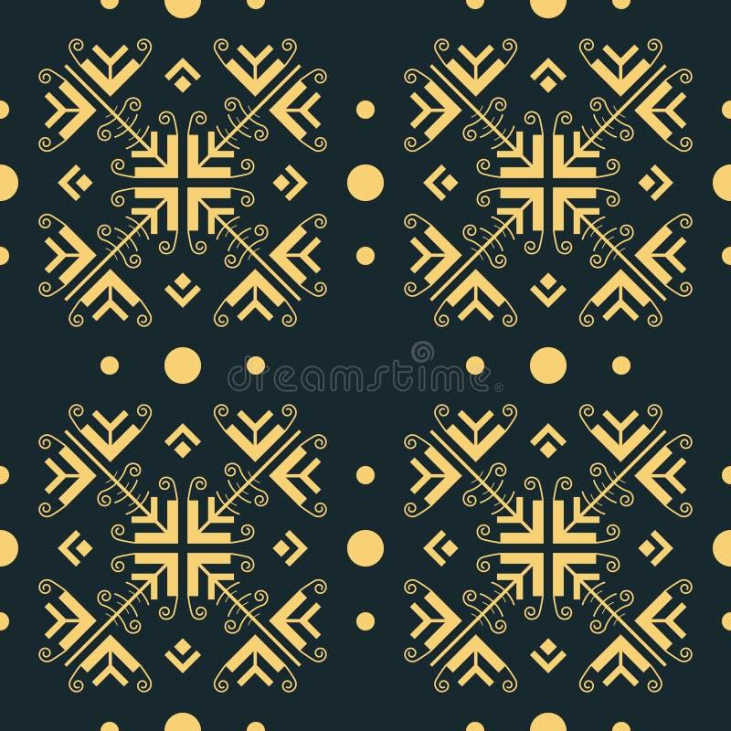 Bevallig openwork naadloos patroon in oosterse stijl vector illustratie