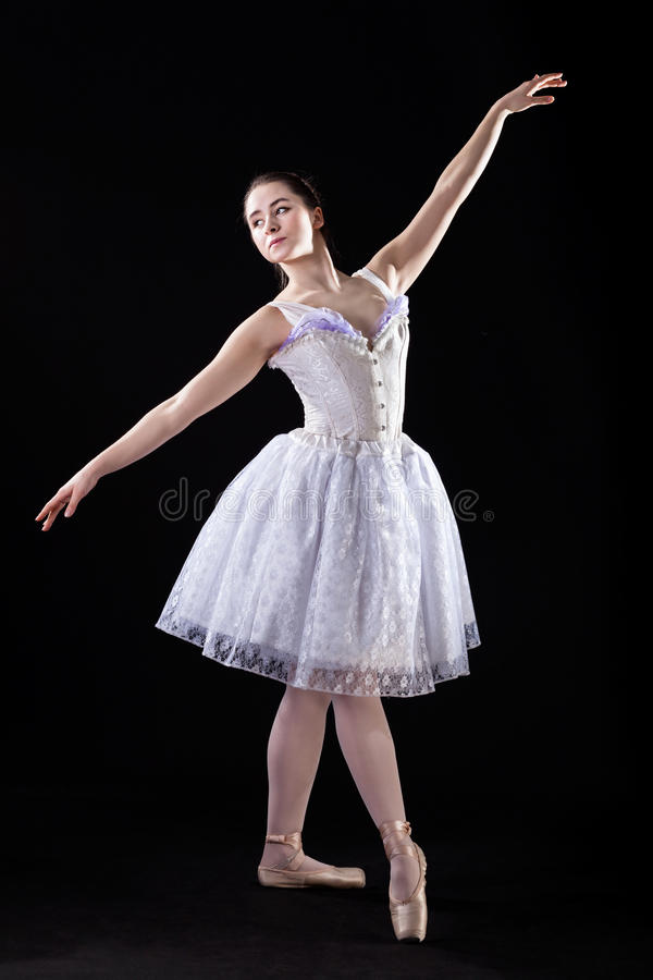 Bevallige balletdanser royalty-vrije stock afbeeldingen