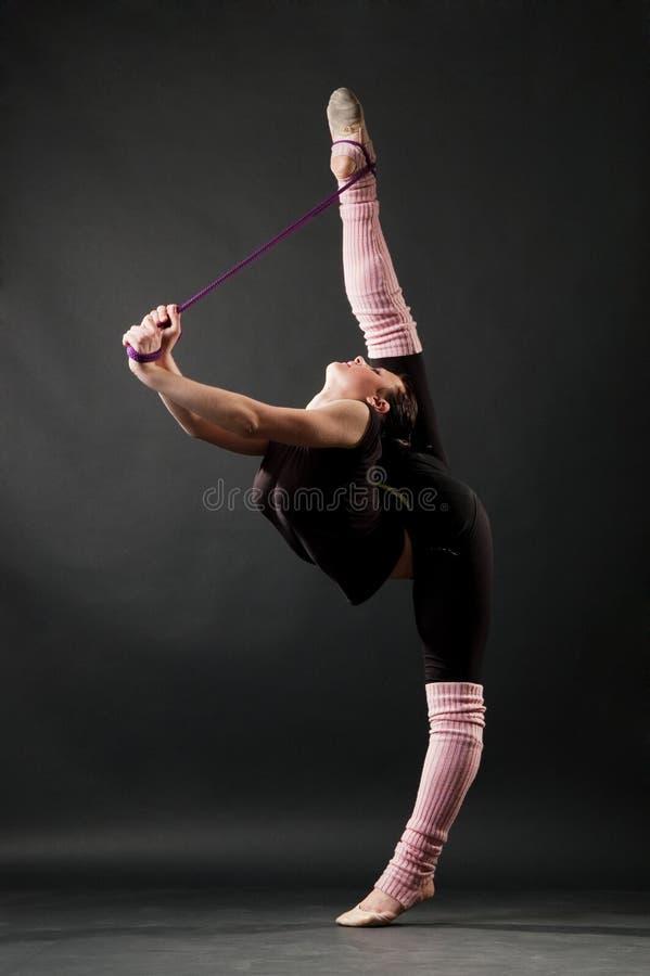 Bevallige danser royalty-vrije stock afbeelding