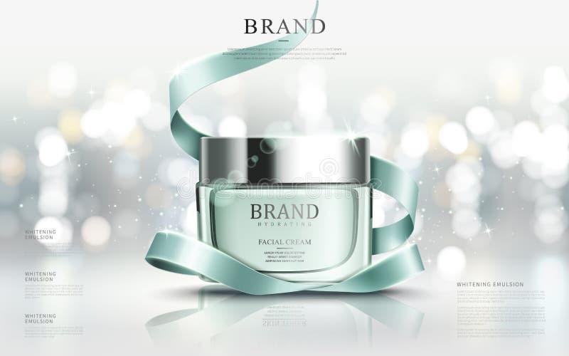 Bevallige kosmetische advertenties vector illustratie