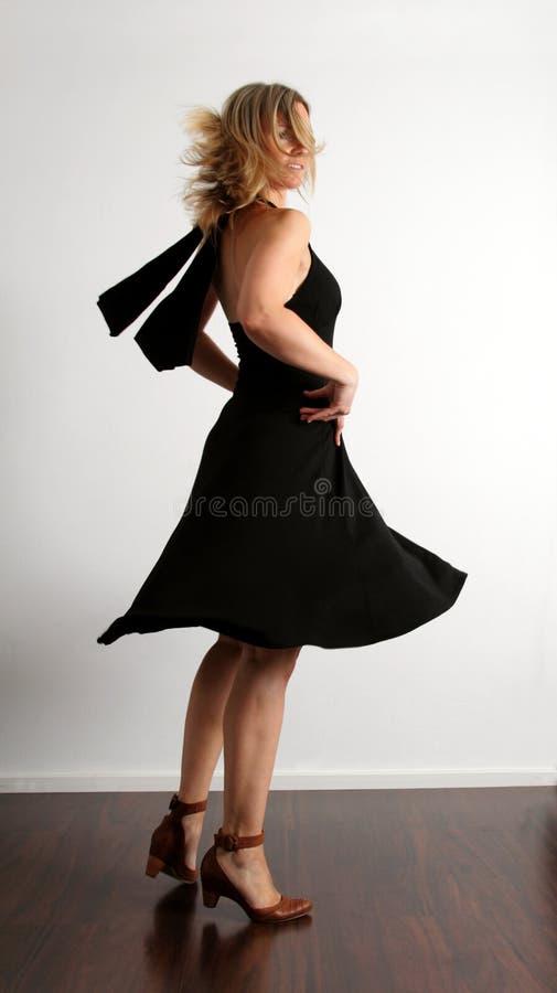 Bevallige vrouwendanser stock foto