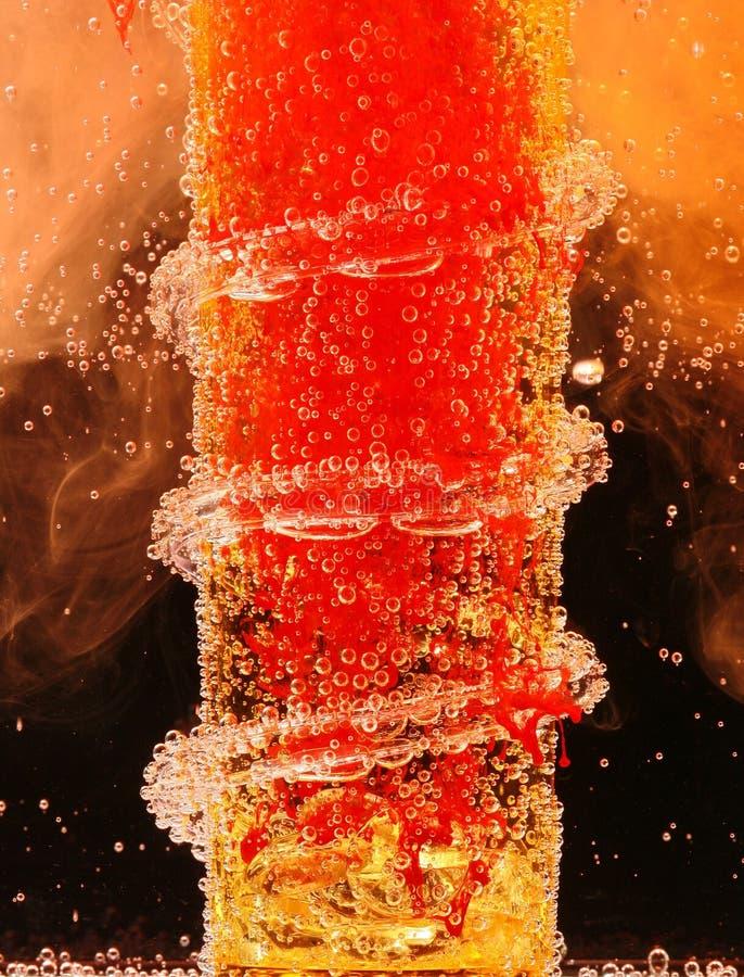 Bevanda ardente del cocktail fotografie stock libere da diritti