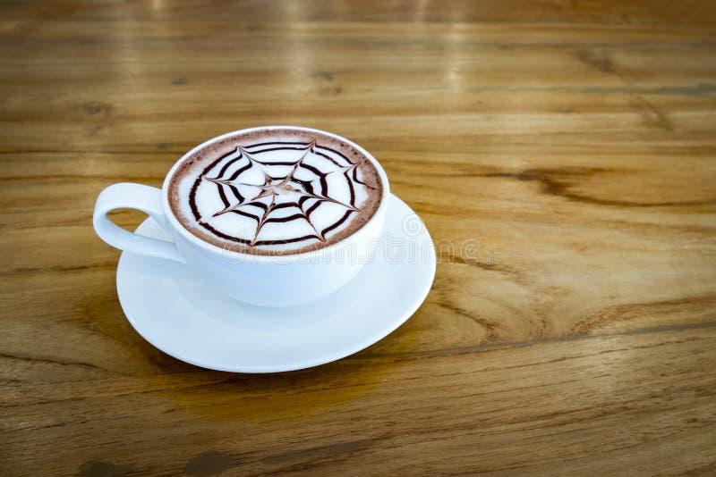 Bevanda calda cremosa del cacao fotografie stock