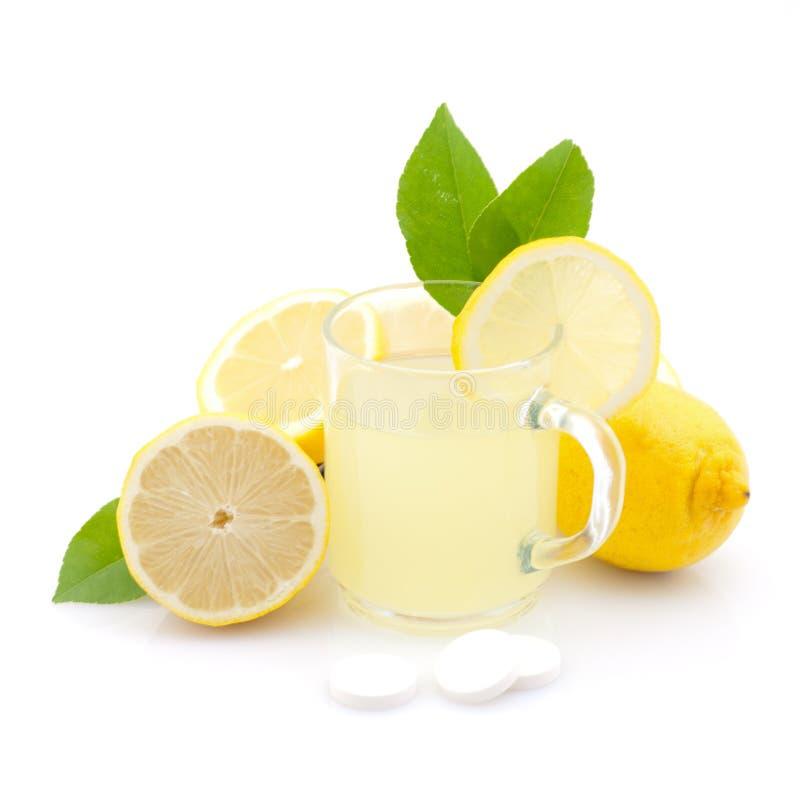 Bevanda calda del limone fotografie stock libere da diritti