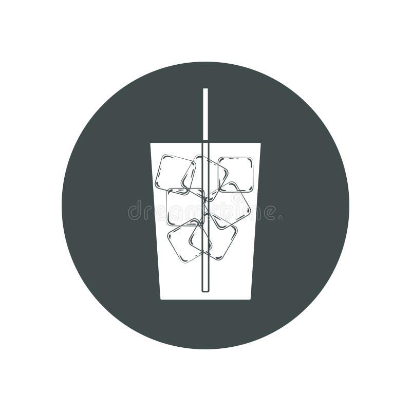 Bevanda con i cubetti di ghiaccio royalty illustrazione gratis