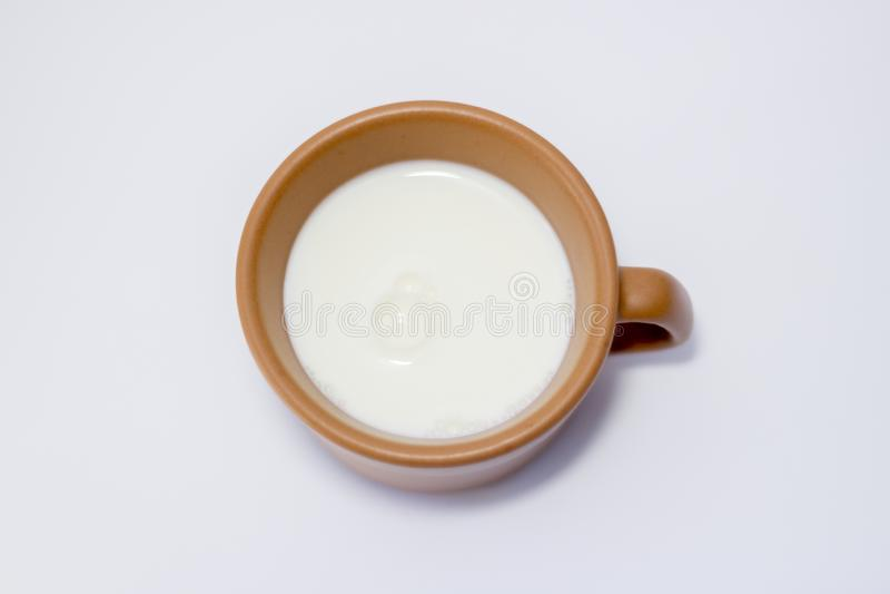 Bevanda del bicchiere di latte bianca immagini stock libere da diritti