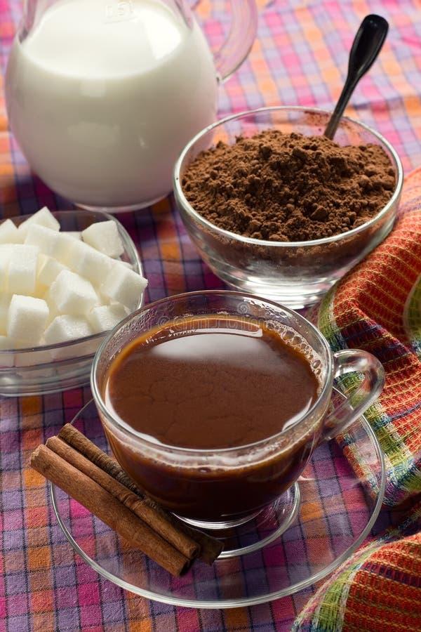 Bevanda del cacao fotografie stock libere da diritti