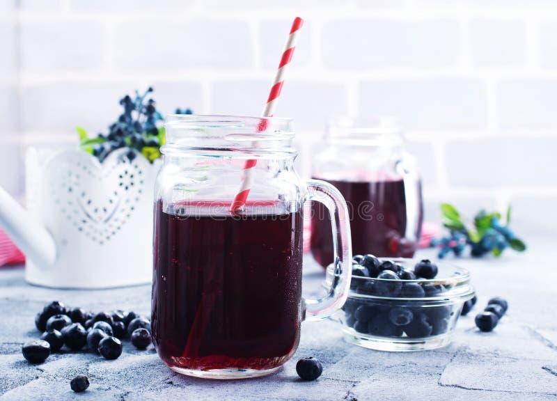 Bevanda del mirtillo fotografie stock