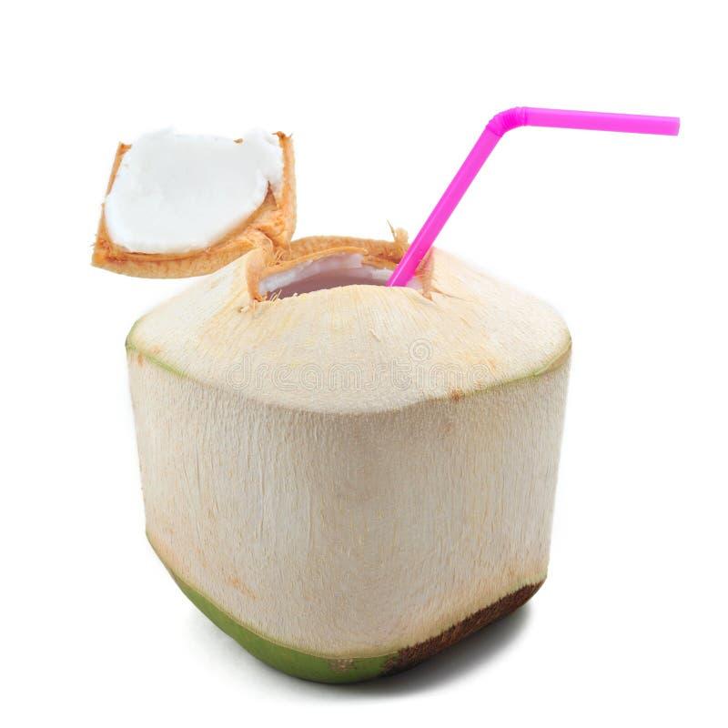 Bevanda dell'acqua di cocco fotografia stock libera da diritti