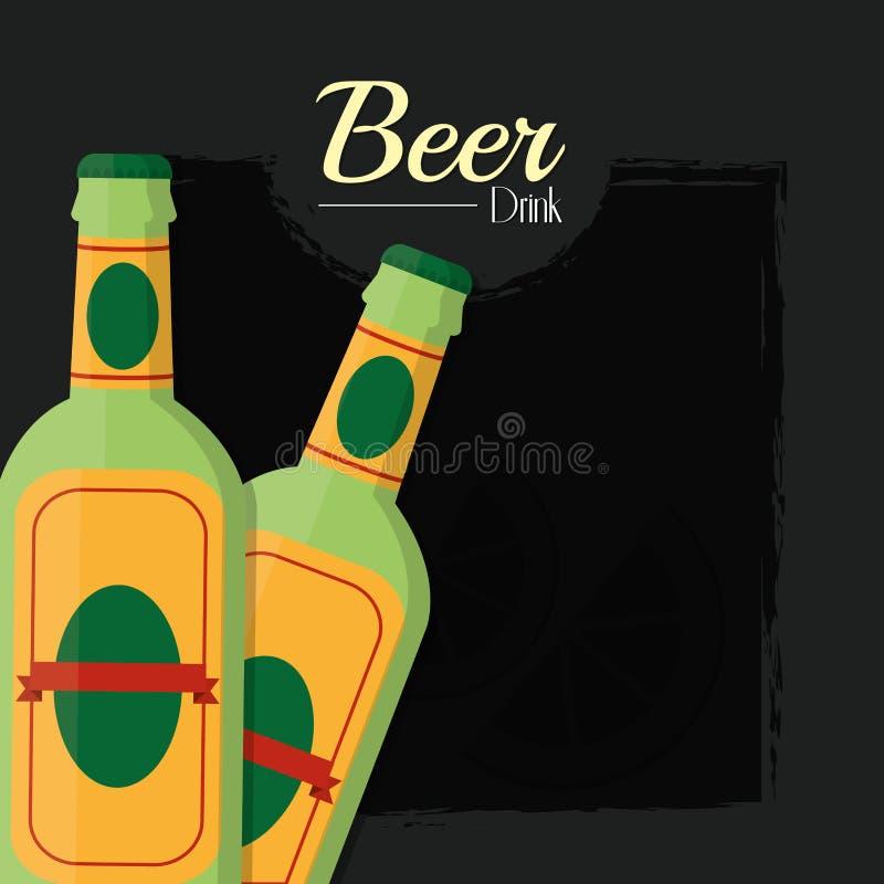 Bevanda dell'alcool delle birre royalty illustrazione gratis