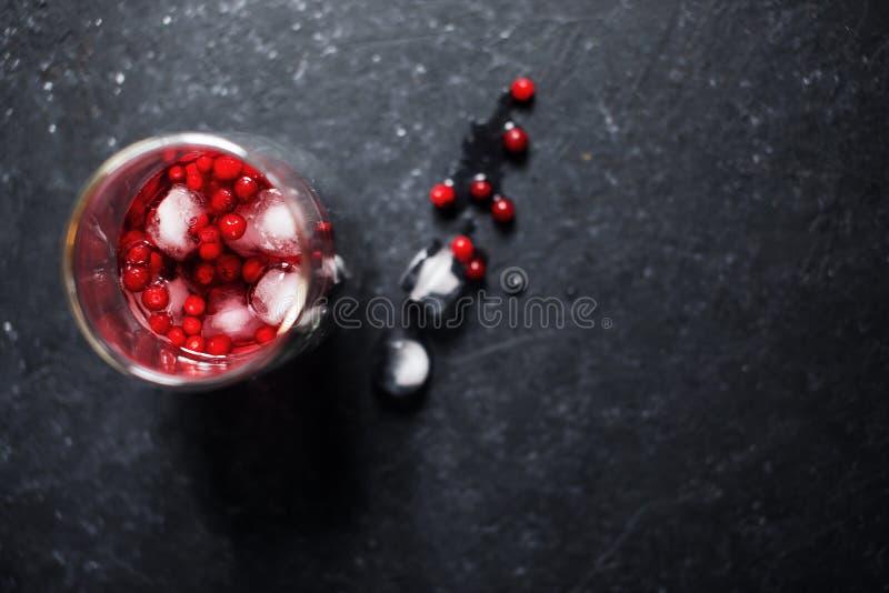 Bevanda della bacca con ghiaccio fotografie stock