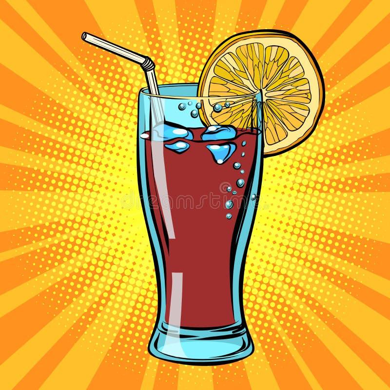 Bevanda della cola con il limone royalty illustrazione gratis