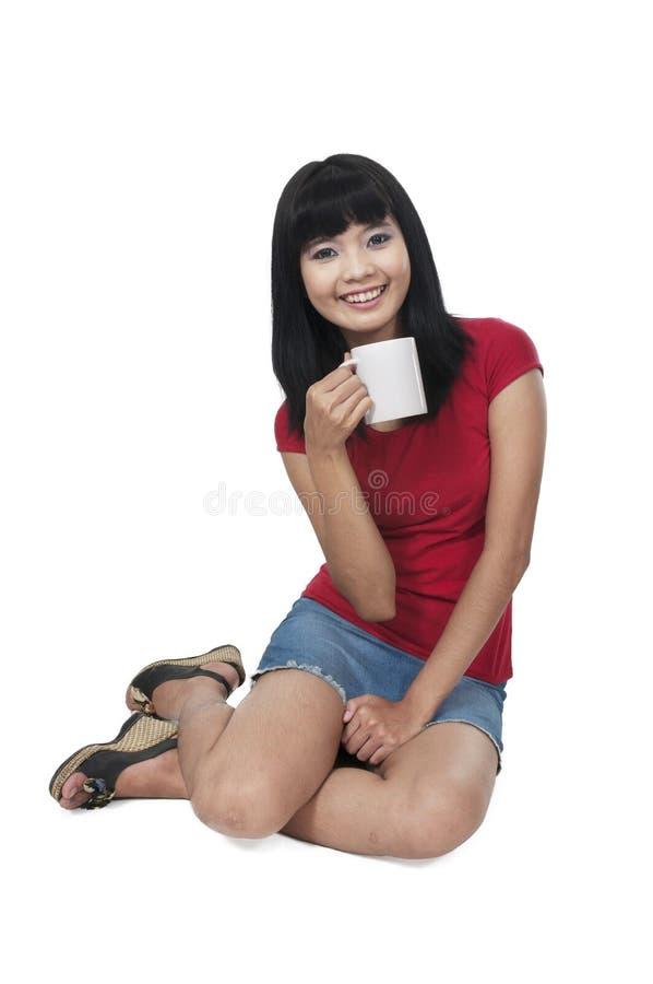 Bevanda della donna fotografie stock libere da diritti