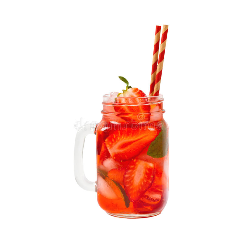 Bevanda della fragola fotografia stock
