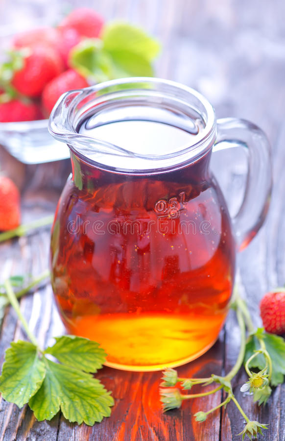 Bevanda della fragola fotografie stock