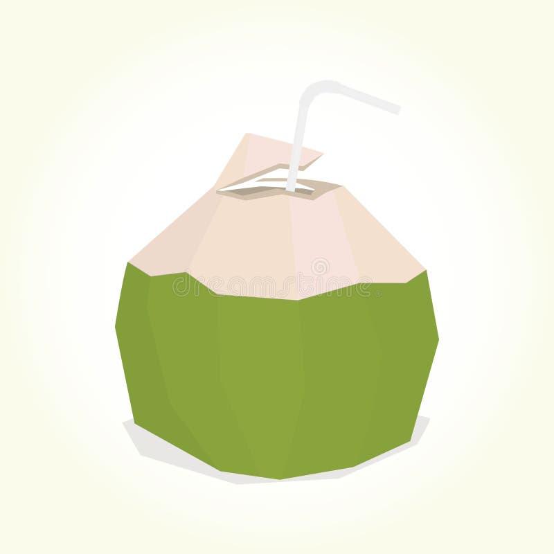 Bevanda della noce di cocco illustrazione di stock