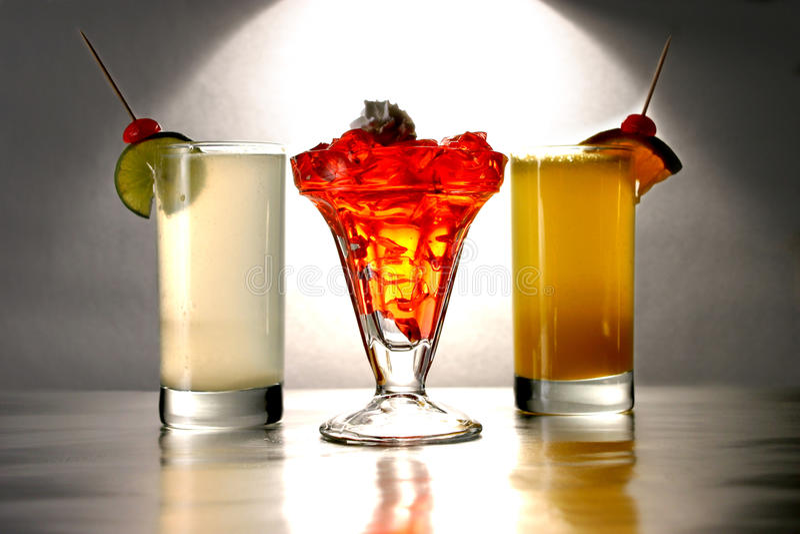 Bevanda di colori fotografie stock libere da diritti