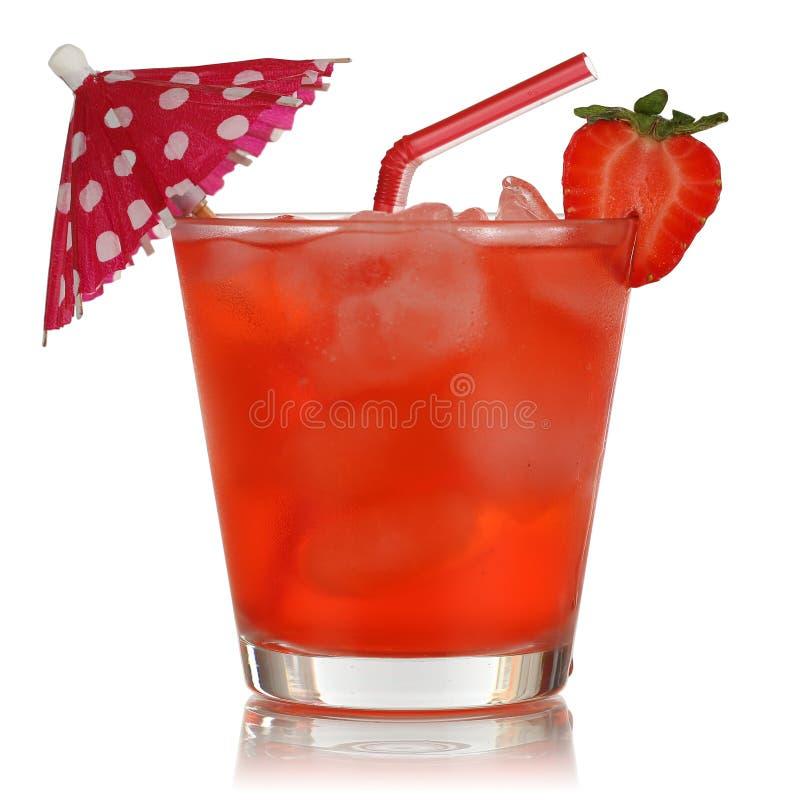 Bevanda di frutta della fragola isolata immagini stock libere da diritti