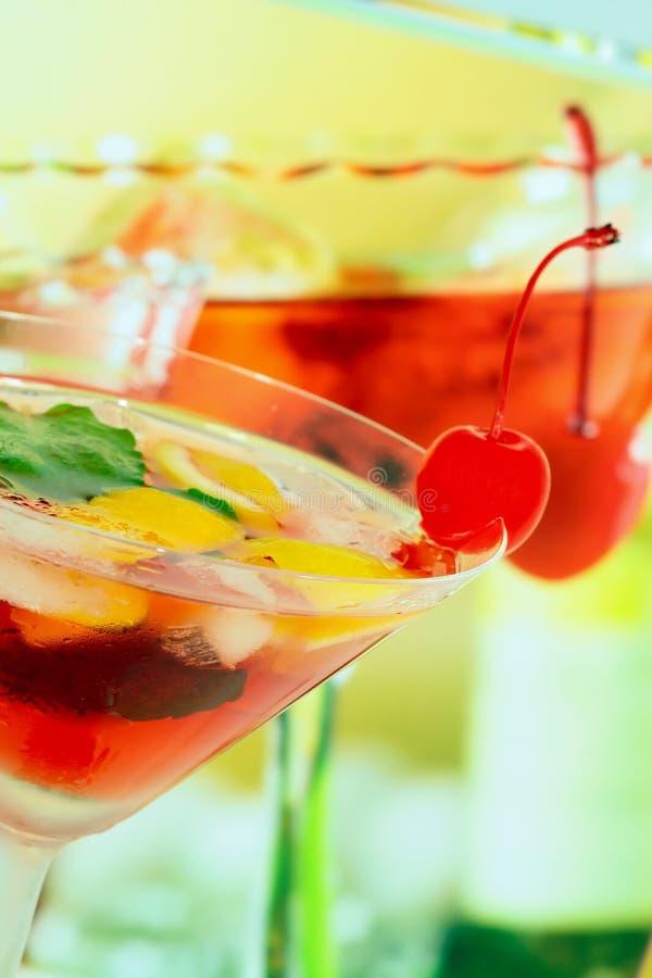 Bevanda di ricreazione di estate alcolica - DOF poco profondo fotografia stock libera da diritti