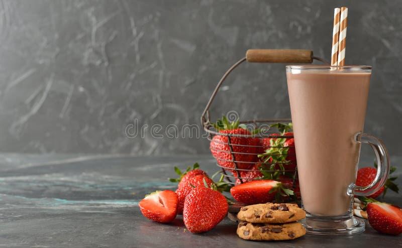 Bevanda fredda del cioccolato fotografia stock libera da diritti