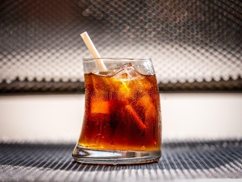 Bevanda a freddo con ghiaccio fotografie stock