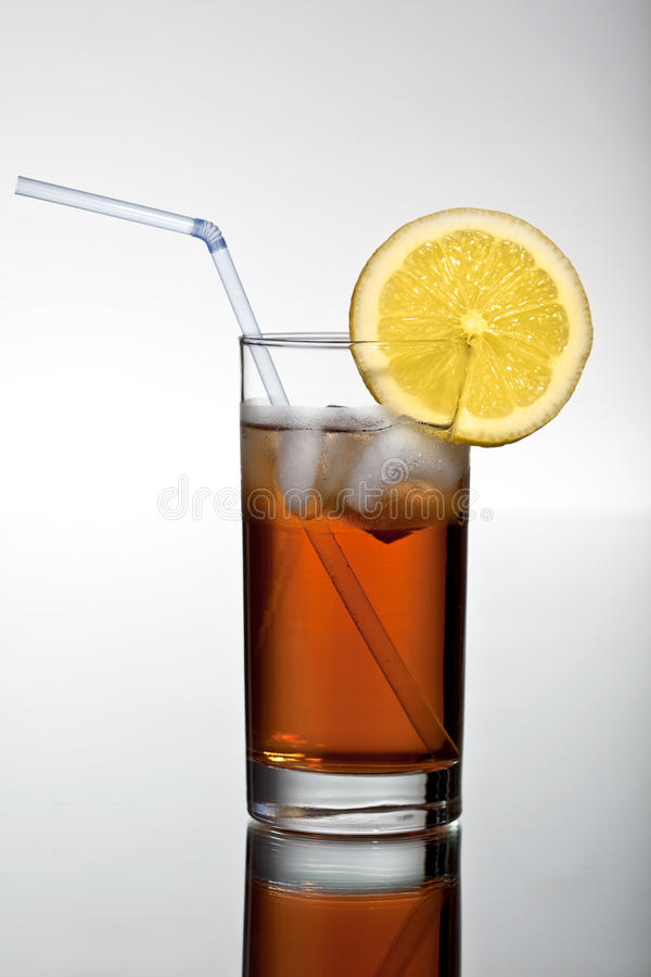 Bevanda fresca di icetea immagini stock