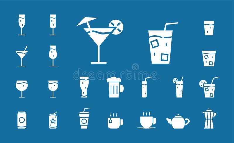 Bevanda & icone di vetro - web dell'insieme & cellulare 03 royalty illustrazione gratis