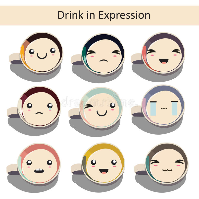 Bevanda nell'espressione fotografie stock libere da diritti