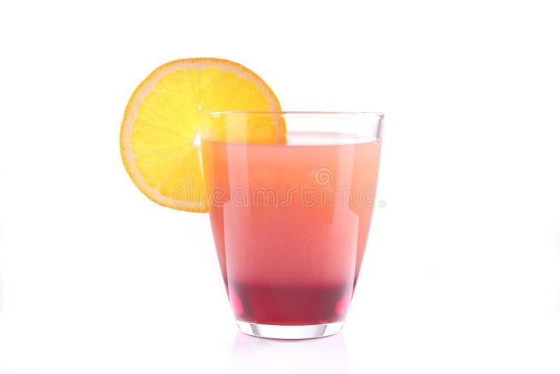 Bevanda stratificata al gusto di frutta immagine stock