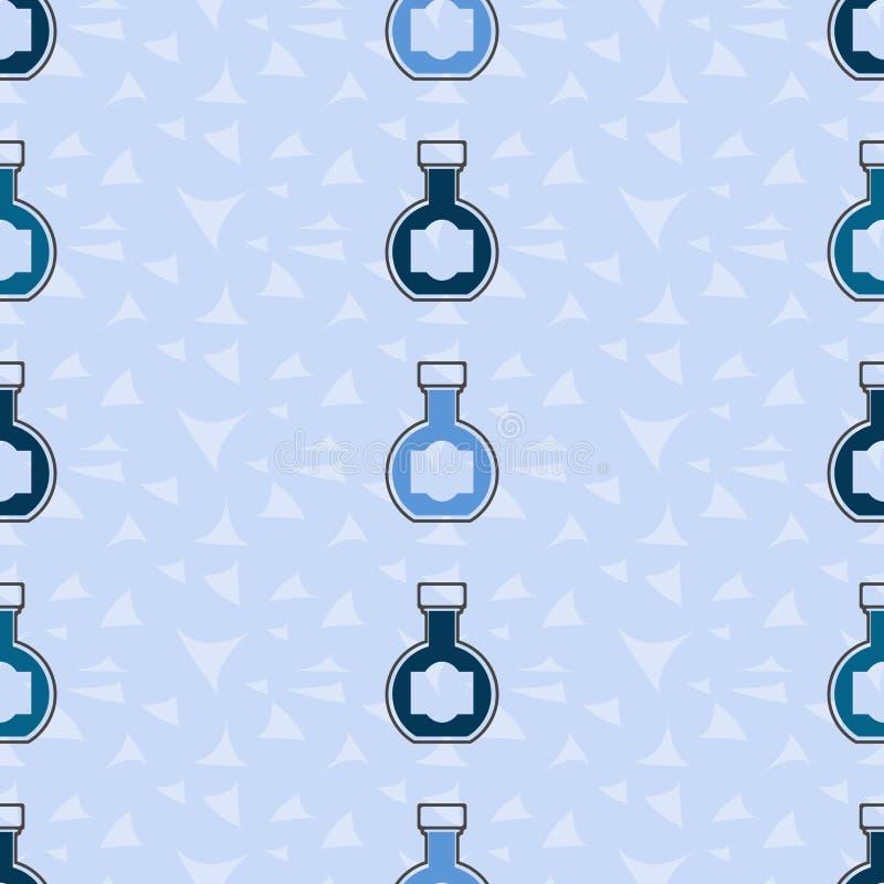 Bevande alcoliche del fondo senza cuciture del modello Vettore dell'alcool liquore royalty illustrazione gratis