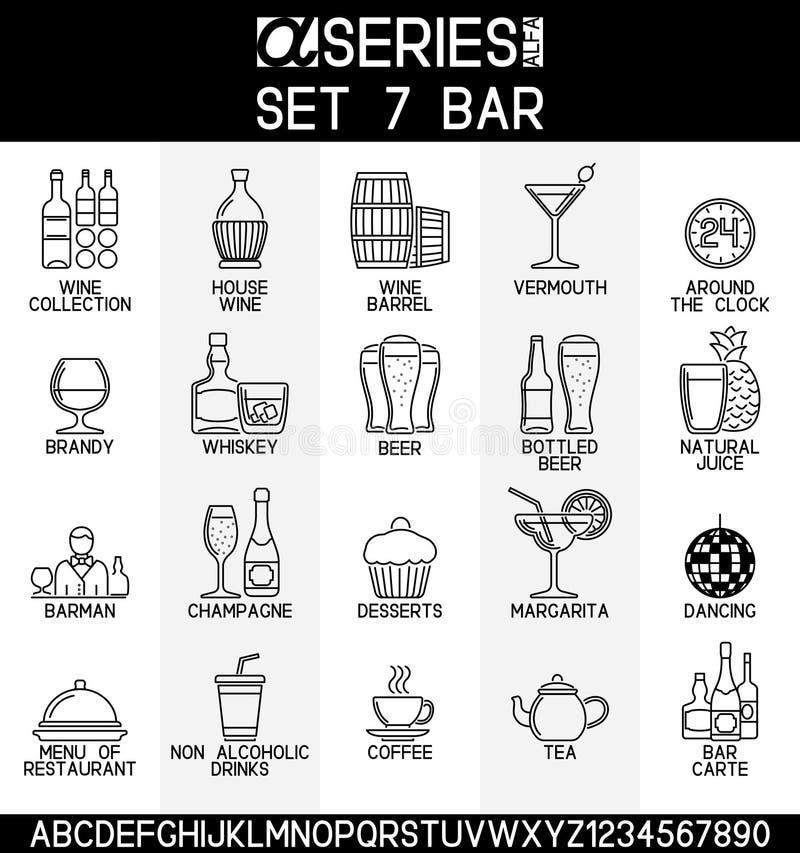 Bevande alcoliche e Antivari royalty illustrazione gratis