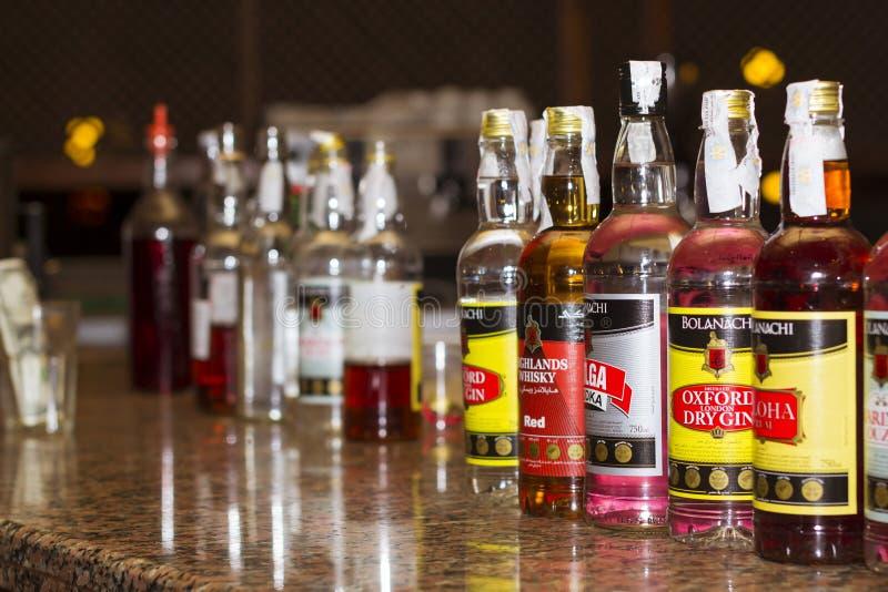 Bevande alcoliche su tutto l'incluso, Sharm el-Sheikh fotografie stock libere da diritti