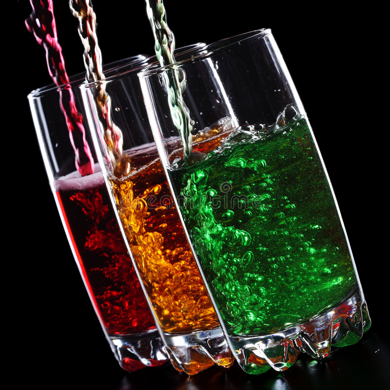 Bevande di Colrful fotografie stock libere da diritti