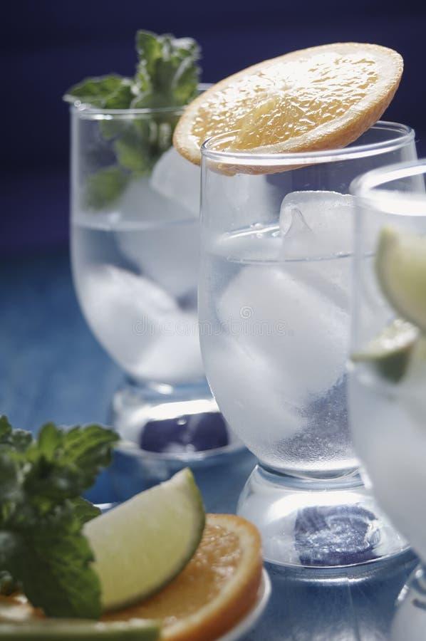 Bevande di rinfresco con ghiaccio fotografie stock libere da diritti