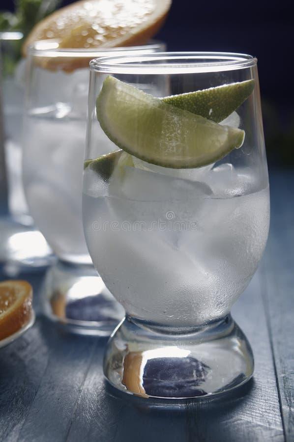 Bevande di rinfresco con ghiaccio fotografia stock
