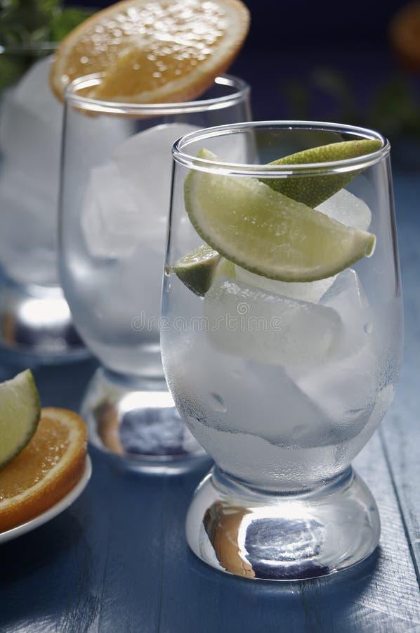 Bevande di rinfresco con ghiaccio immagine stock libera da diritti