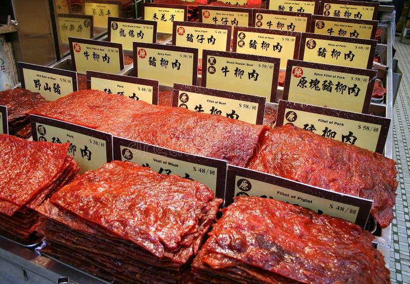 bevarad kinesisk meat royaltyfri foto