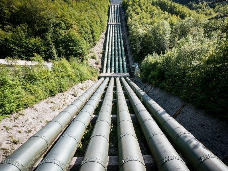 Bevattna pipelinen arkivbild