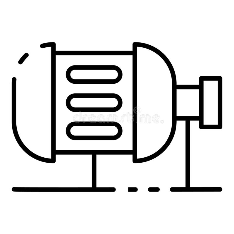 Bevattningmotorsymbol, översiktsstil royaltyfri illustrationer