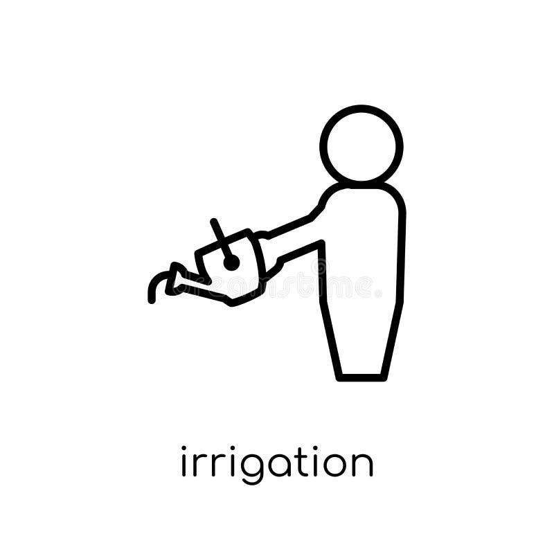 Bevattningsymbol från åkerbrukt och att bruka och arbeta i trädgården collecti vektor illustrationer