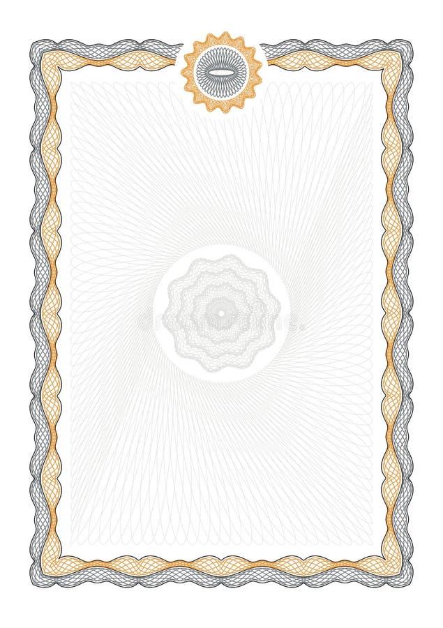Beveilig achtergrond voor document royalty-vrije illustratie