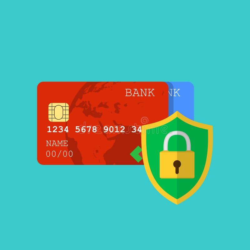 Beveilig creditcardtransactie royalty-vrije illustratie
