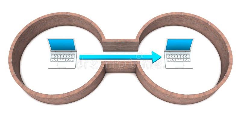 Beveilig de Aansluting van het Netwerk vector illustratie