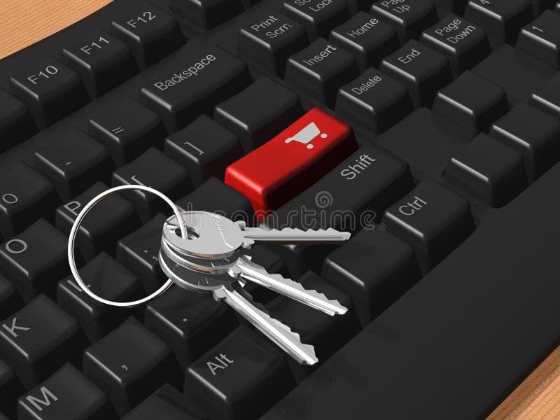Beveilig elektronische handelconcept royalty-vrije stock afbeelding
