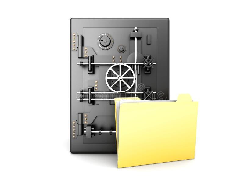 Beveilig Folder vector illustratie