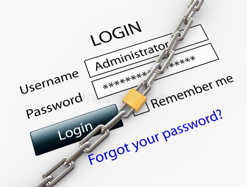 Beveilig Internet aansluting vector illustratie