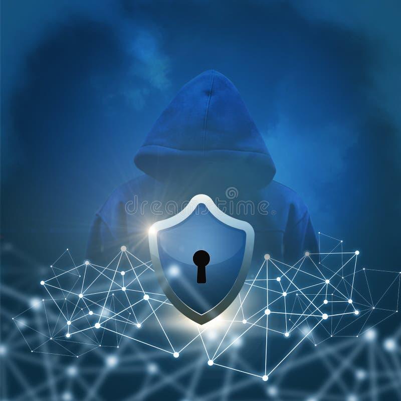 Beveilig netwerken stock fotografie