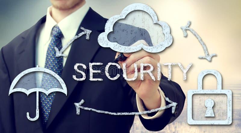 Beveilig online wolk gegevensverwerkingsconcept royalty-vrije stock foto's